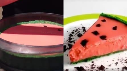 Come preparare la cheesecake a forma di anguria: il dolce perfetto per l'estate