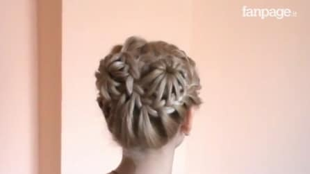 Tutorial capelli, ecco come fare una perfetta corona di trecce a forma di fiore