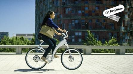 Gi FlyBike: ecco la prima bici elettrica che si ripiega in un secondo
