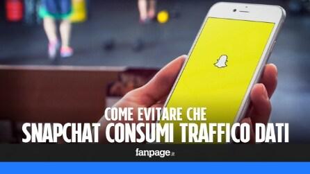 Evitare che Snapchat consumi tutto il traffico dati