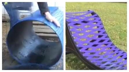 Come creare un lettino da giardino fai da te con un contenitore di plastica