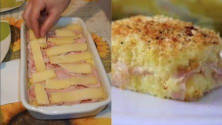Gateau di patate senza uova e burro: cremoso e leggero