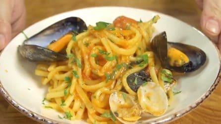 Scialatielli cozze e vongole: il primo piatto di mare che non delude mai