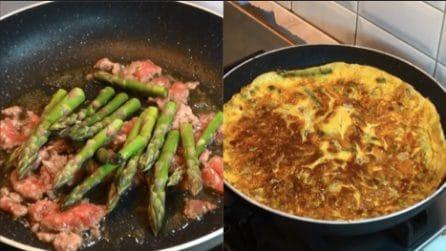 Frittata di asparagi e salsiccia: un piatto saporito e pronto in pochi minuti