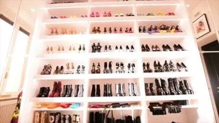 Donatella Versace mostra il suo armadio da sogno