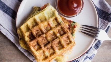 Waffle omelette