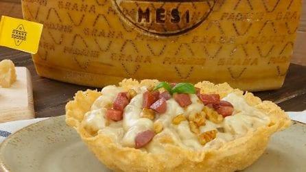 Gnocchi di zucca con noci, speck e Grana Padano DOP Riserva: cremosità e gusto!
