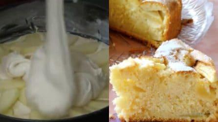 Torta morbida con panna e mele: un dessert unico e goloso