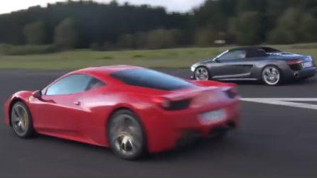 Ferrari 458 Italia vs Audi R8 V10: la sfida non è scontata