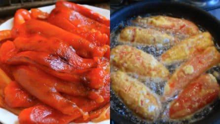 Peperoni ripieni e fritti: il contorno gustoso che non delude mai
