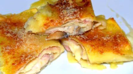 Cannelloni ripieni con funghi e speck: con questo piatto il successo è assicurato