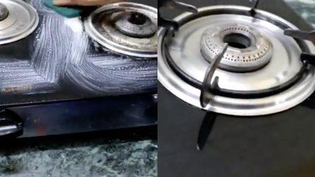 Come scrostare la superficie del fornello: il metodo che non avete mai provato