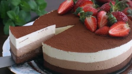 Torta mousse al triplo cioccolato: il dessert senza cottura che piacerà a tutti