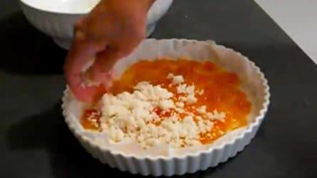 Sbriciolata senza uova e burro con un ripieno goloso di marmellata: per una merenda light
