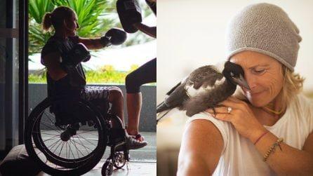 Resta paralizzata dopo un incidente e cade in depressione. Ma un uccellino le salva la vita