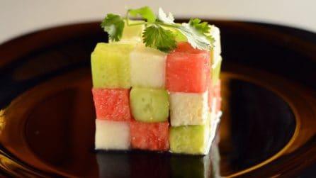 Un cubo di Rubik fresco e delizioso: ecco cosa c'è dentro