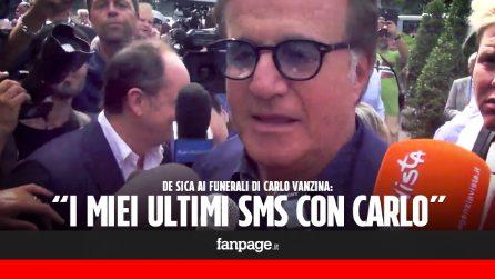 """Christian De Sica ai funerali di Carlo Vanzina: """"Non amato dall'intellighenzia, molto più bravo di tanti altri"""""""