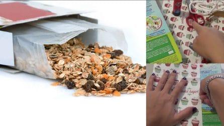 Non buttare via la scatola dei cereali e trasformala in maniera utile e creativa