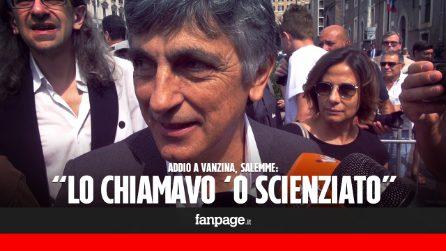 """Vincenzo Salemme ai funerali di Carlo Vanzina: """"Un grande amico, io lo chiamavo 'o scienziato"""""""