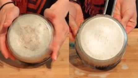 Fondo delle pentole annerito: ecco come pulirle in un minuto