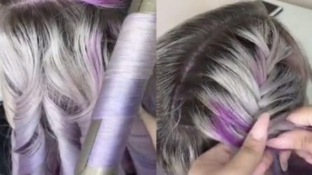 Realizza una pettinatura sui suoi bellissimi capelli colorati: il risultato è fantastico