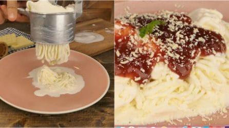 Spaghetti gelato: il modo divertente e goloso per servire il gelato!
