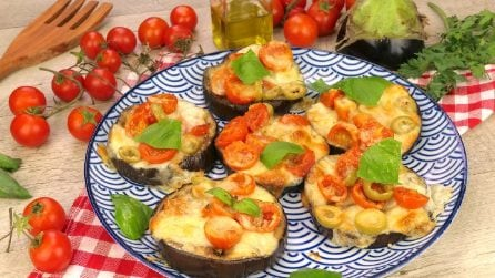 Eggplant mini pizzas: a healthy, tasty and quick recipe!