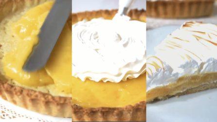 Crostata con meringa italiana e crema al limone: ogni fetta è un piacere