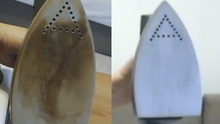 Ferro da stiro bruciato: il metodo naturale per riaverlo come nuovo