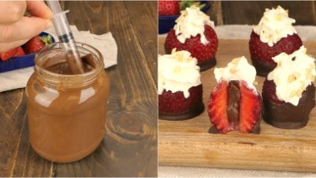 Chocolate filled strawberries: a morsel of pure deliciousness that you can prepare in no time!
