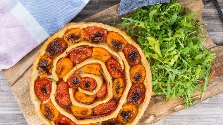 Tarte di pasta sfoglia ai pomodorini: originale e gustosa!
