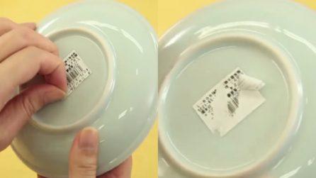 Come rimuovere facilmente le etichette dei piatti nuovi