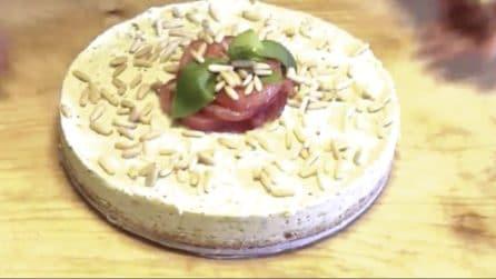 Cheesecake salata al pesto: una ricetta unica