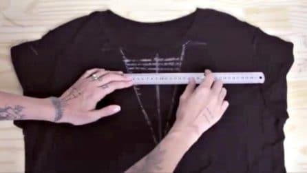 Trasforma una vecchia t-shirt in un capo alla moda: l'idea ingegnosa da provare