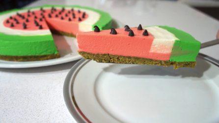 Cheesecake anguria: la torta golosa che farà impazzire i più piccoli