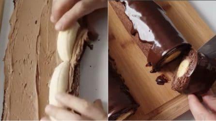 Rotolo di banane e cioccolato: il dessert goloso che piacerà a grandi e piccini