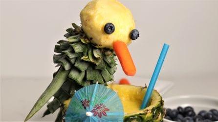 Come realizzare un simpatico e colorato pappagallo con l'ananas