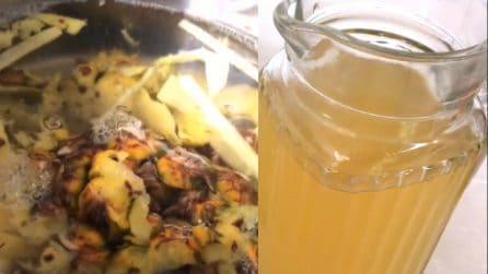 Come preparare una bevanda rinfrescante e depurativa con le bucce dell'ananas