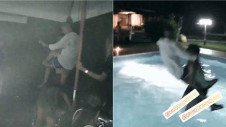 Temptation Island, Oronzo e Gianpaolo insieme dopo il reality: festa e tuffo in piscina