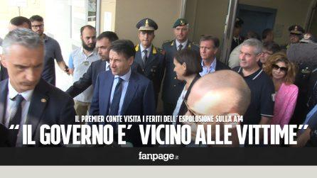 """Esplosione Bologna, il premier Conte incontra i feriti in ospedale: """"Siamo stati fortunati"""""""