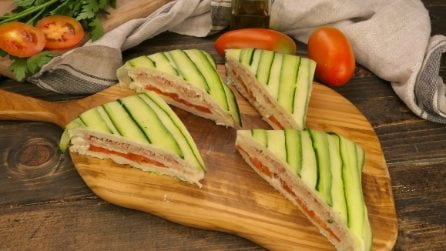Quick summer sandwich: perfect for a quick and tasty lunch!