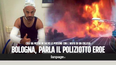 """Esplosione Bologna, il poliziotto eroe che ha salvato gli automobilisti: """"Stavano scattando selfie"""""""
