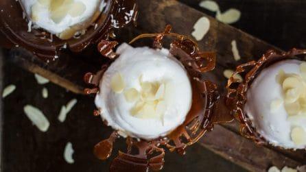 Cestini di caramello: ecco come servire il dessert!