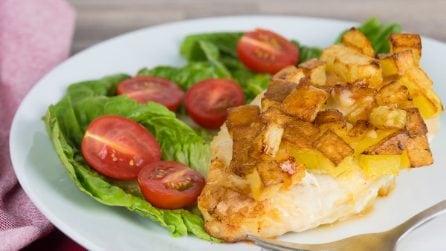 Pollo in crosta di patate: croccante fuori e morbido dentro!