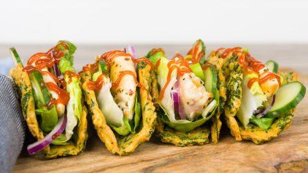 Tacos di spianaci: poche calorie, ma tanto gusto!