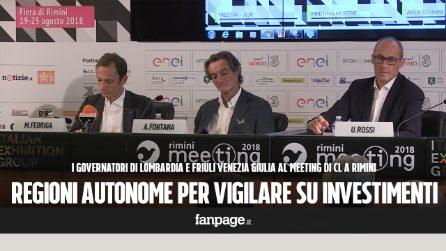 """Fedriga e Fontana: """"Avanti con le autonomie delle Regioni per rendere lo Stato più efficiente"""""""