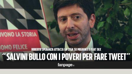 """Speranza: """"Salvini fa il bullo con i deboli per fare post su Facebook, ma non risolve i problemi"""""""