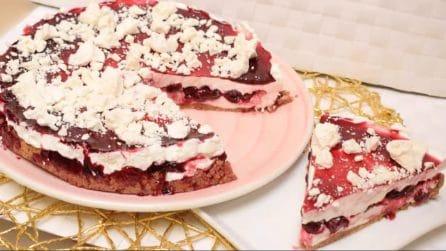 Torta fredda allo yogurt e amarene: ideale per la tua estate