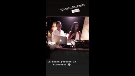 Teresa Langella, ex tentatrice di Temptation Island, alla festa di Gianni autista di Fabrizio Corona