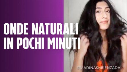 Il trucco per realizzare delle onde naturali: capelli mossi in pochi minuti
